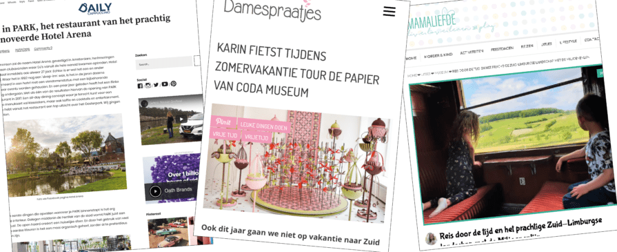 Ervaringen gedeeld door bloggers & influencers